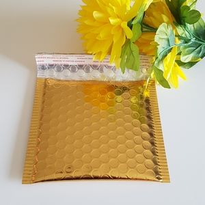 "NEW 20 Gold Metallic Bubble Mailers 5""x5"" in"